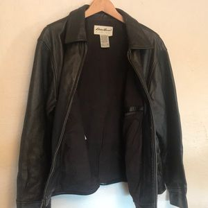 Eddie Bauer Genuine Leather Bomber / Moto Jacket